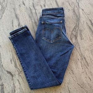 Levi's Bold Curve Mid Rise Skinny Indig Blue Jeans